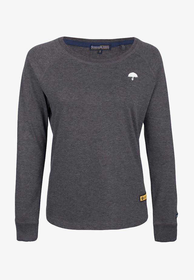 Långärmad tröja - dark grey melange