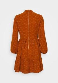 Closet - CLOSET HIGH COLLAR MINI DRESS - Day dress - tan - 1