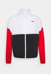 white/black/university red