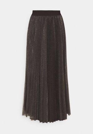 GONNA LUNGA - Pleated skirt - dark chocolate