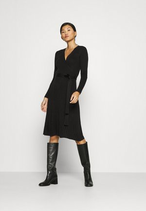WRAP DRESS - Neulemekko - black