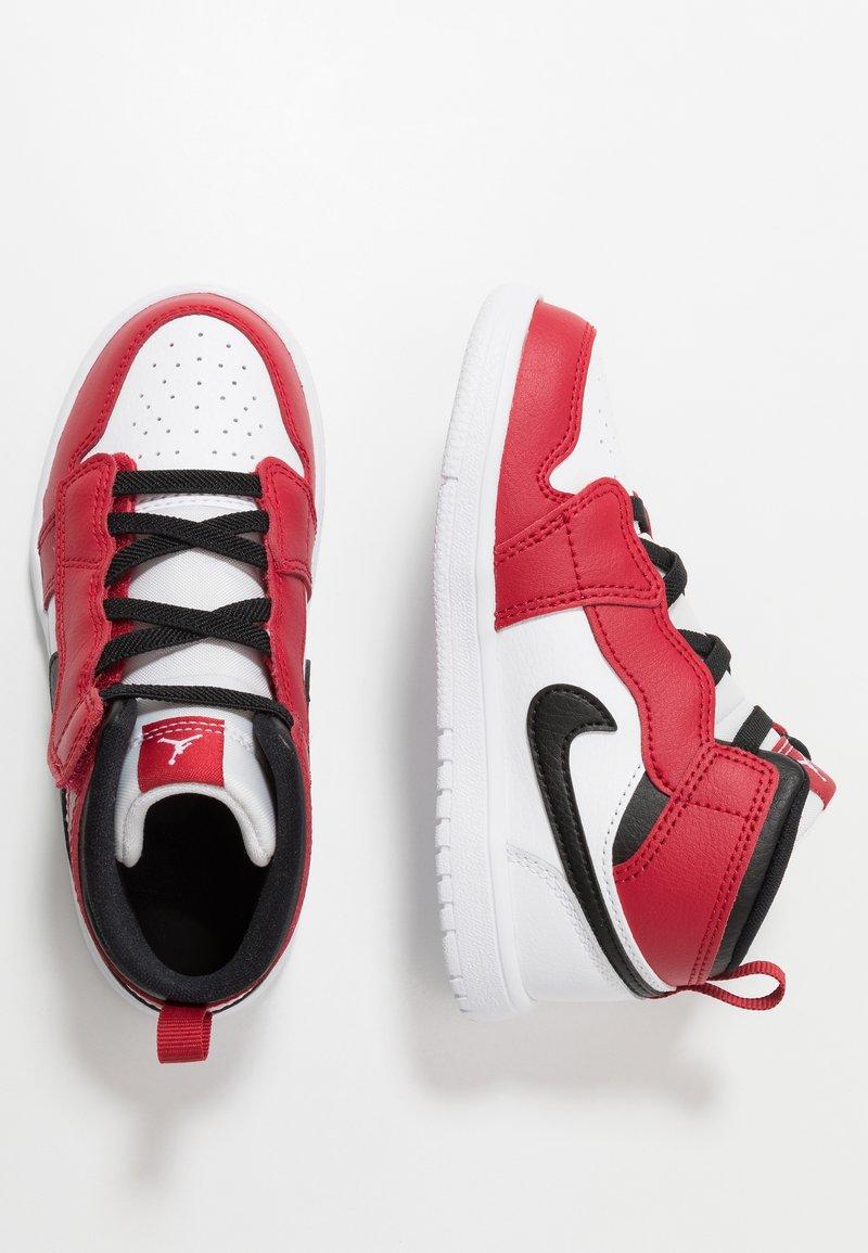 Jordan - 1 MID ALT - Basketball shoes - white/gym red/black