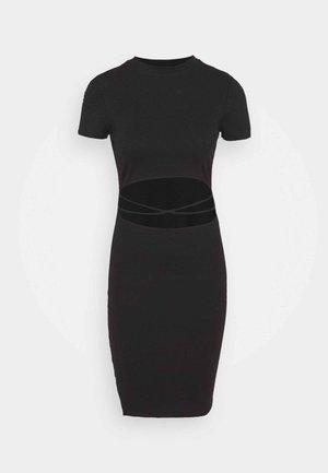 ONLNESSA LIFE FRONT CUT DRESS - Jersey dress - black