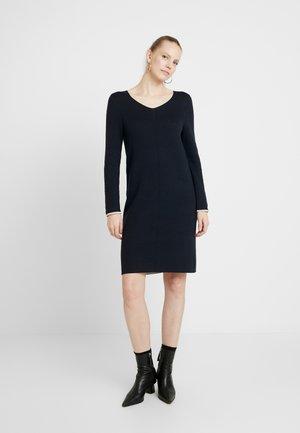 KURZ - Strikket kjole - marine