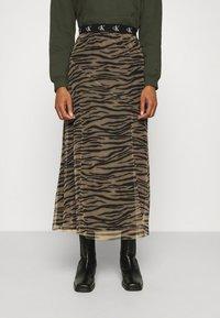 Calvin Klein Jeans - Maxi skirt - irish cream/black - 0
