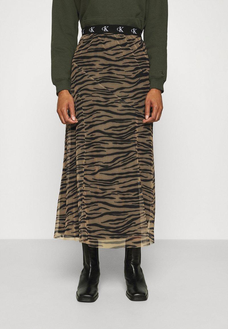 Calvin Klein Jeans - Maxi skirt - irish cream/black
