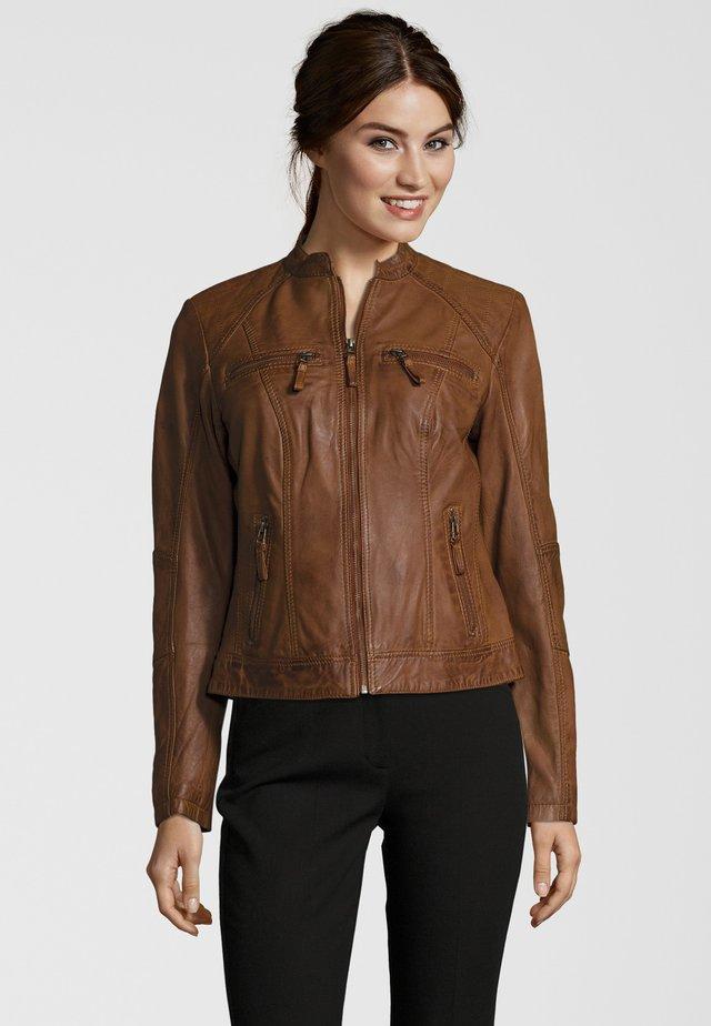 TOULOUSE - Leather jacket - cognac