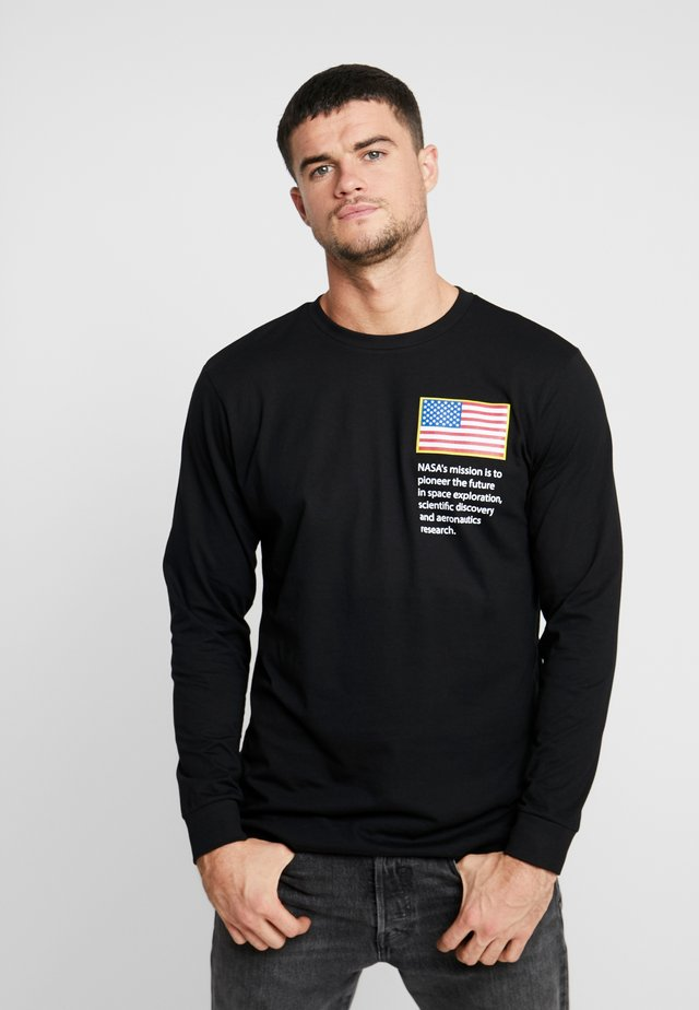 NASA WORM LOGO LONGSLEEVE - Long sleeved top - black