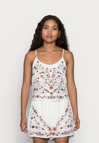 YAS Petite - YASCHELLA SINGLET PETITE - Top - star white/embroidery - 0
