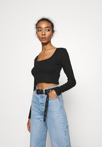 Monki - ALBA  - Longsleeve - black dark - 0