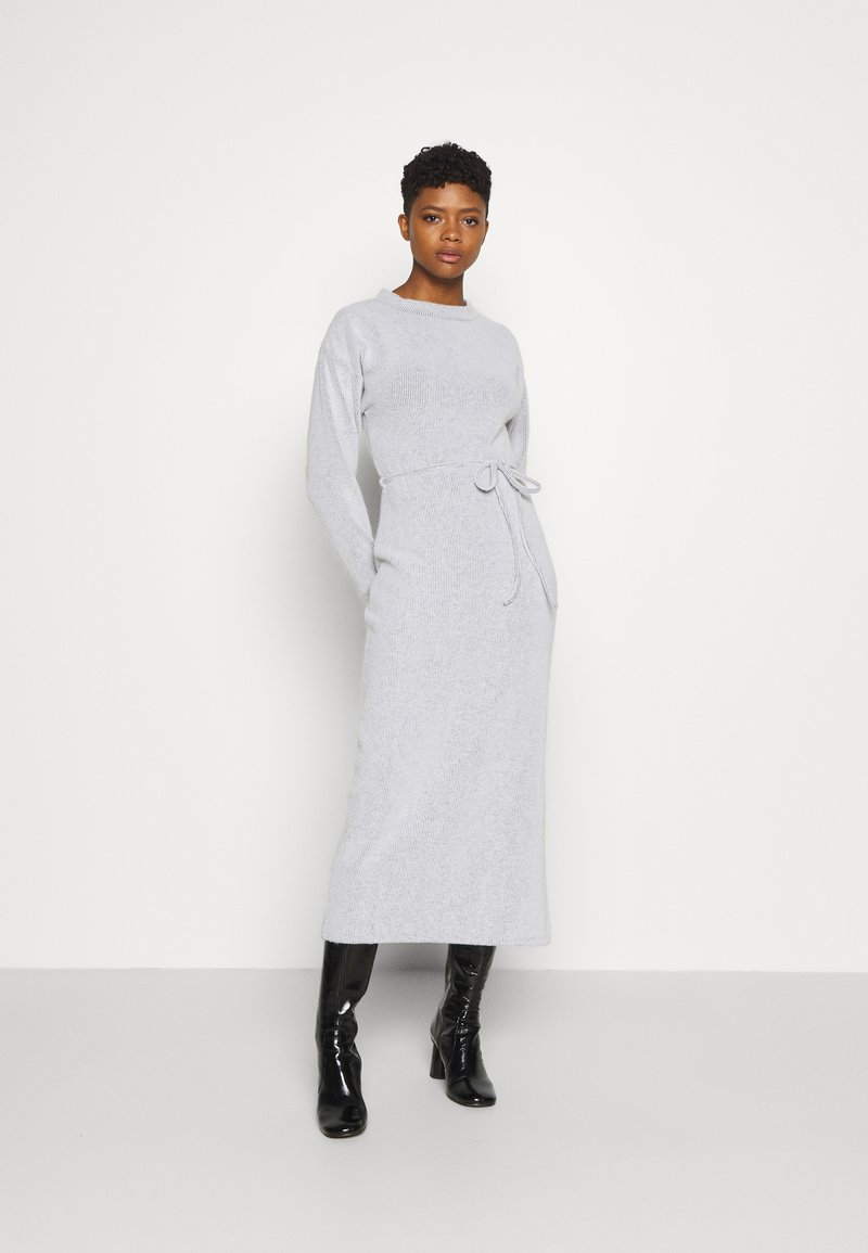 Topshop - COSEY BELTED MIDI - Jumper dress - grey