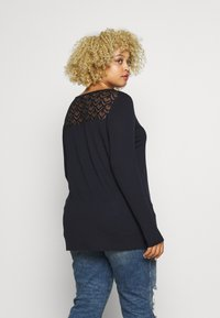 ONLY Carmakoma - CARFLAKE MIX TOP - Topper langermet - night sky - 2