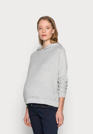 BRUSHED HOODY - Sweter - grey