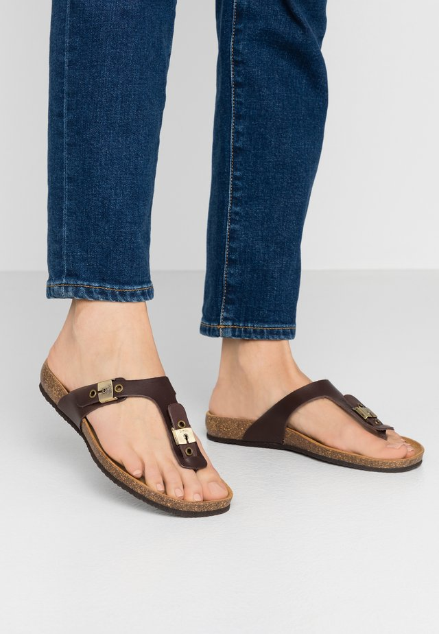 BIMINOIS - Flip Flops - marron fonce