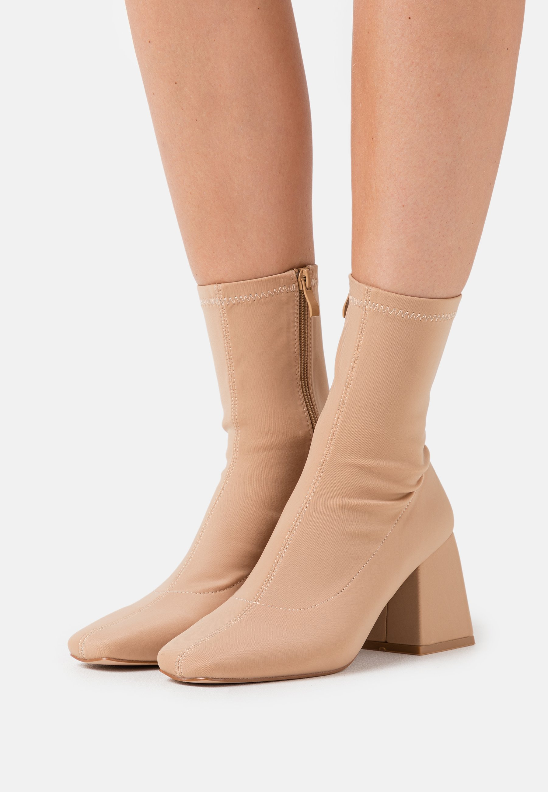 Women ASHLEY - Classic ankle boots - nude