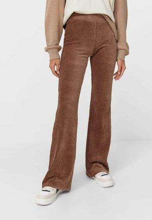 Leggings - mottled dark brown