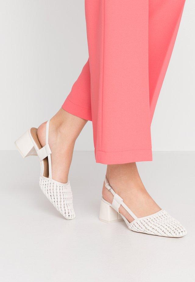 JOLLY SLINGBACK - Classic heels - white