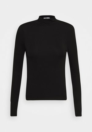 SHEER VINTAGE HIGH NECK LONG SLEEVE - Pitkähihainen paita - black