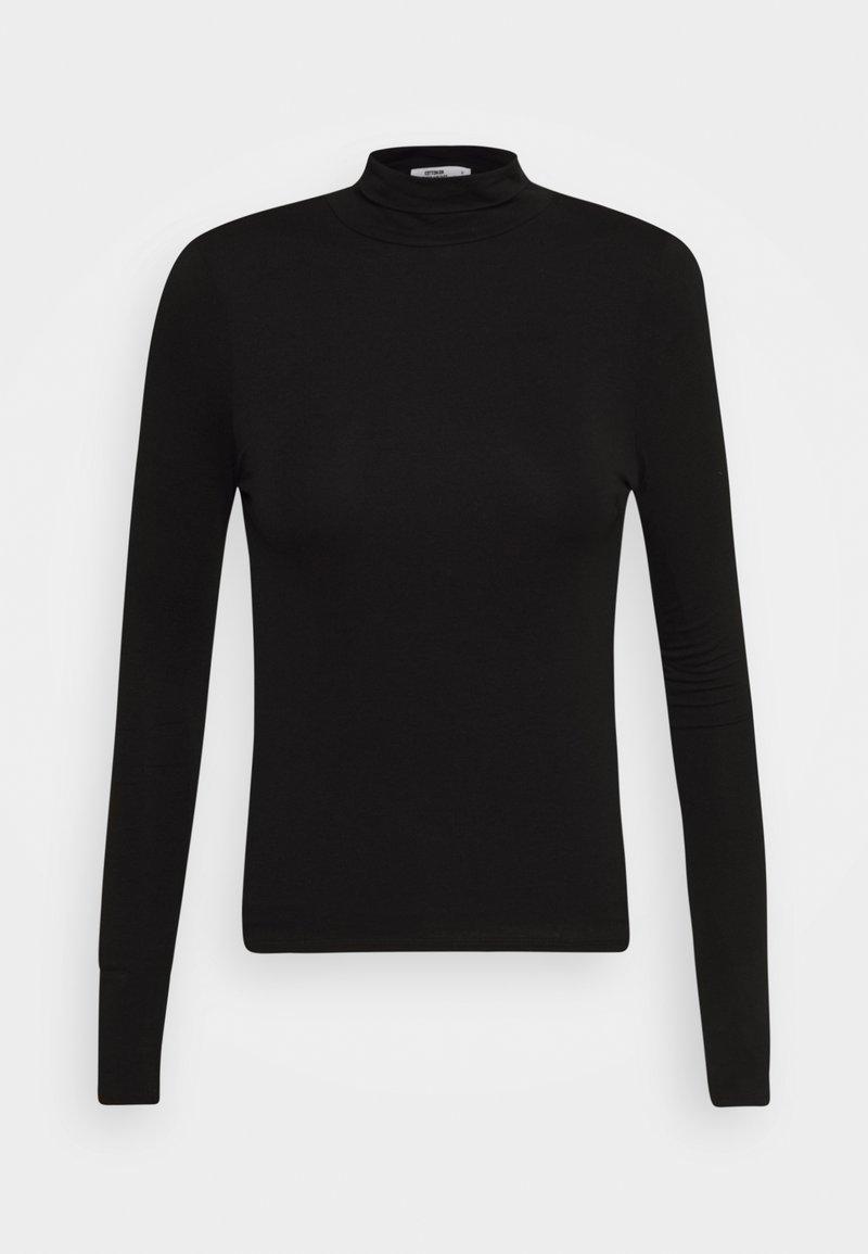 Cotton On - SHEER VINTAGE HIGH NECK LONG SLEEVE - Topper langermet - black