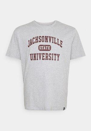 COLLEGE PRINT TEE - T-shirt med print - grey
