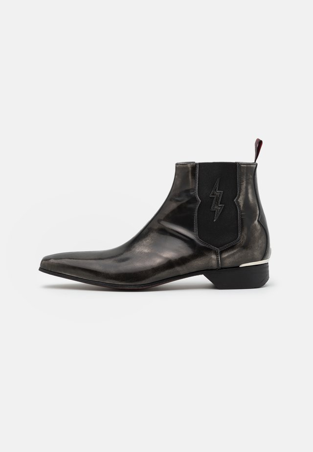 YARDBIRD - Cowboy/biker ankle boot - college silver