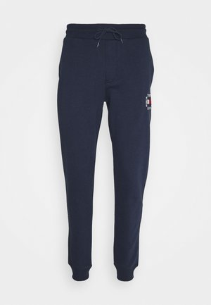SLIM BOX FLAG PANT - Spodnie treningowe - blue