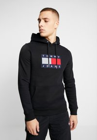 Tommy Jeans - FLAG HOODIE - Sweat à capuche - black - 0