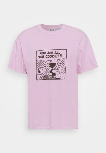 SNOOPY COOKIES TEE - Print T-shirt - pink