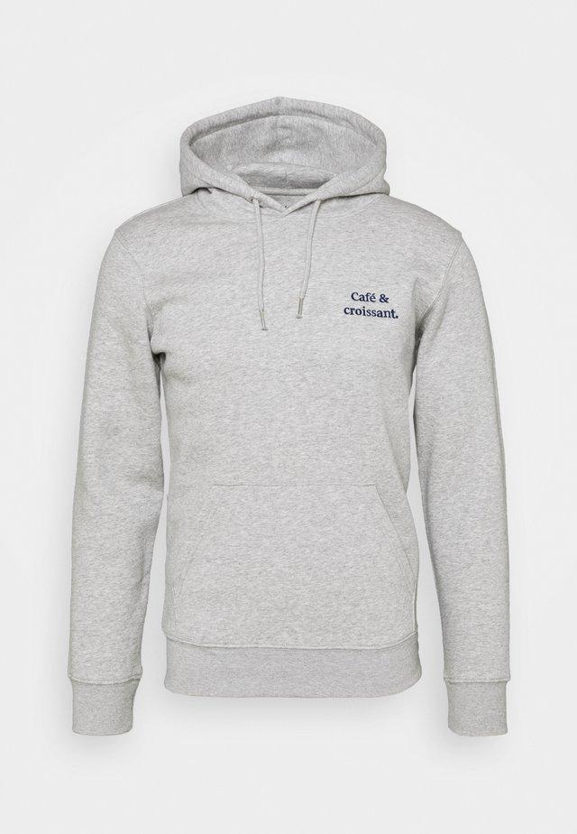 HOODIE CAFÉ CROISSANT UNISEX - Sweatshirt - heather grey