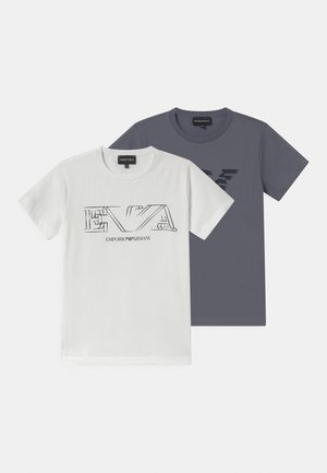 2 PACK - Print T-shirt - white