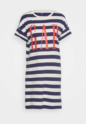 TEE - Day dress - navy/white