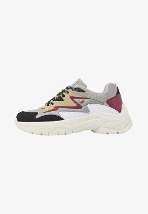 GALAXY - Baskets basses - grey lt brown burgundy
