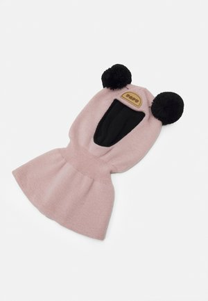 BALACLAVA BEANIE - Bonnet - dusty pink/black