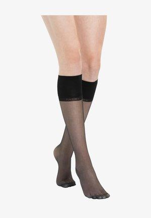 PURE MATT  - Knee high socks - black