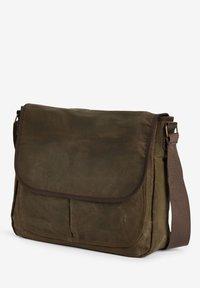 Next - KHAKI WAXED MESSENGER BAG - Across body bag - green - 2