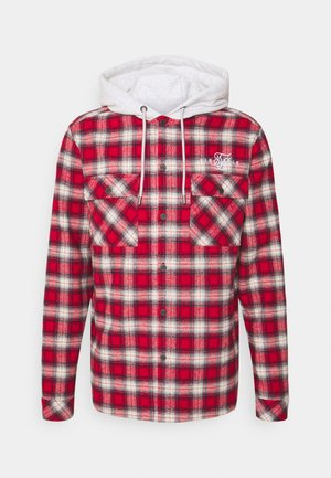 HOODED JACKET - Chaqueta fina - red/off white