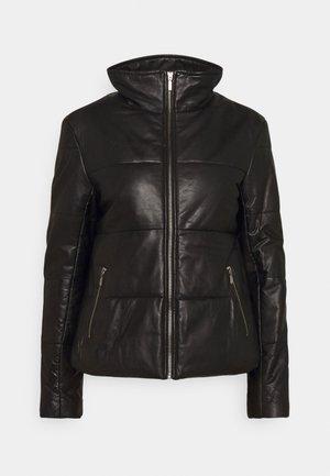 LYDIA PUFFER JACKET - Leather jacket - black