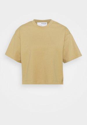 SLFFRAME O-NECK CROP TEE - Basic T-shirt - kelp