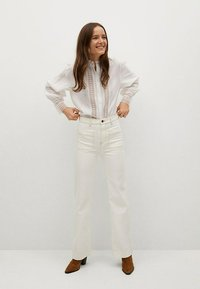 Mango - CAMISA  - Button-down blouse - blanco roto - 1