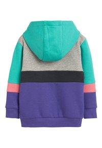Next - MULTI COLOURBLOCK HOODY/JOGGERS SET (3MTHS-7YRS) - Zip-up hoodie - purple - 2