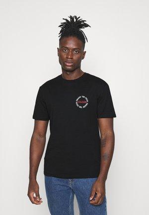 DITHER  - Print T-shirt - black