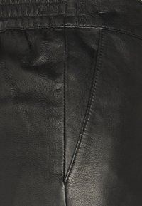 Object Petite - OBJVIOLA - Leather trousers - black - 2