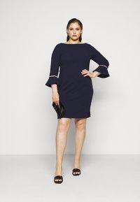 Anna Field Curvy - Pouzdrové šaty - evening blue - 1