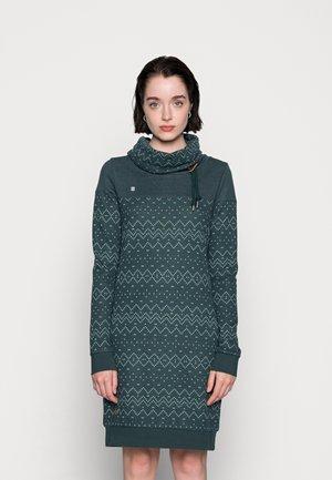 DRESS - Jersey dress - dark green