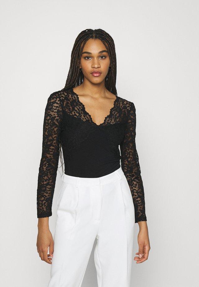 TEMALA - T-shirt à manches longues - noir