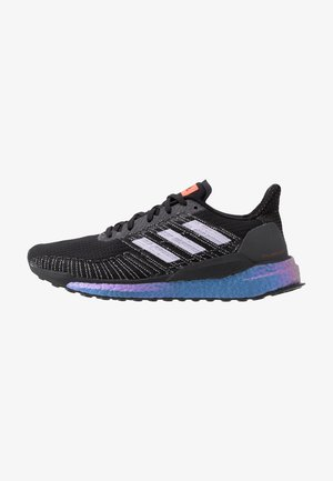 SOLAR BOOST 19 - Neutral running shoes - core black/purple tint/solar red