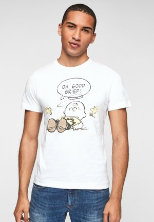 Print T-shirt - white oh good grief placed print