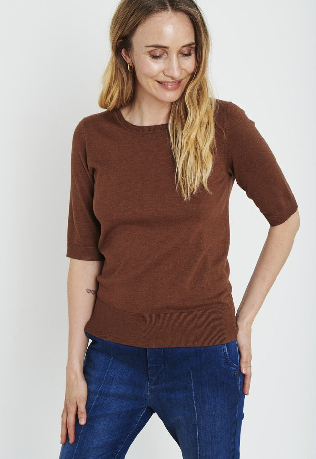 PZSARA - T-shirt imprimé - bison melange