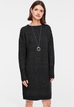Jumper dress - black melange
