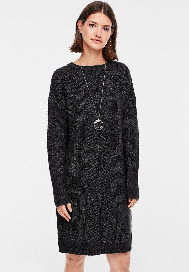 Jumper dress - black melange